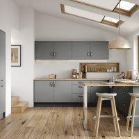 Slab Matte door, contemporary kitchens Bangor, Modern kitchens Bangor, bespoke kitchens Bangor, Red Leaf Kitchens