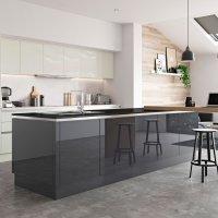 Handleless gloss door, gloss kitchens Bangor, Luxury kitchens Bangor, bespoke kitchens Bangor, Red Leaf Kitchens